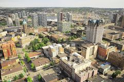 Aerial view of the city center. royalty free stock photos