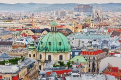 Aerial view of city center in Vienna Stock Image