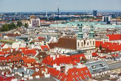 Aerial view of city center in Vienna Stock Images