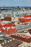 Aerial view of city center of Vienna Royalty Free Stock Image