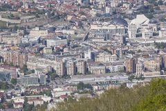 Aerial view of the city centre of Skopje - Macedonia Royalty Free Stock Photo
