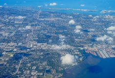 Aerial view of clearwater. Aerial view of city of clearwater in Florida, USA Royalty Free Stock Photo