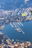 Aerial view of City of Como on Lake Como, Italy Stock Image