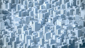 Aerial view on the city concept. 3d rendering. Aerial view on the city concept. 3d illustration Royalty Free Stock Photography