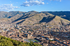 Aerial view of the city in Cusco, Peru Royalty Free Stock Image