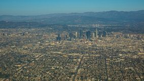 Aerial view of the city of Los Angeles stock images