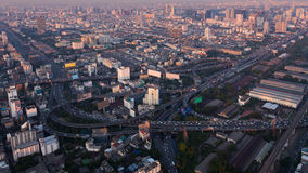 Aerial view city express way intersection Stock Images