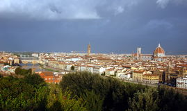 Aerial view on city of Florence, Italy Royalty Free Stock Photos