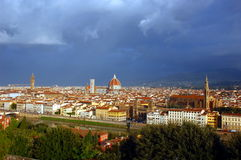 Aerial view on city of Florence, Italy Stock Photo