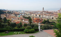Aerial view on city of Florence, Italy Royalty Free Stock Photo