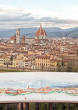 Aerial view of the city of Florence Royalty Free Stock Images