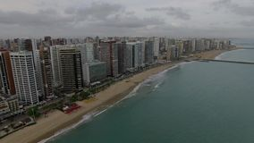 Aerial view of the city of Fortaleza, Ceara state, Brazil. Aerial view of the city of Fortaleza, Ceara state, Brazil South America stock video