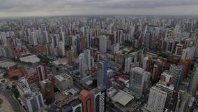 Aerial view of the city of Fortaleza, Ceara state, Brazil. Aerial view of the city of Fortaleza, Ceara state, Brazil South America stock video footage