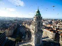Aerial View of City Hall, Porto, Portugal Stock Photo