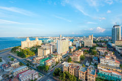 Aerial view of the city of Havana Royalty Free Stock Image