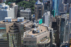 Aerial view of the city at IFC Royalty Free Stock Photography