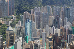 Aerial view of the city at IFC Stock Photo