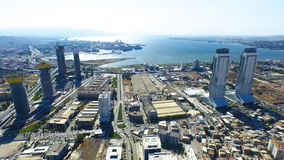 Aerial view of city Royalty Free Stock Images