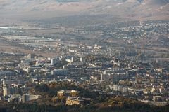 Aerial view of the city of Kislovodsk, Russia, in autumn.  royalty free stock photos