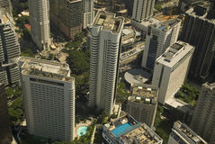 Aerial view of the city, Kuala Lumpur, Malaysia Stock Images