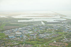 Aerial view of city Lelystad Royalty Free Stock Photo