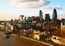Aerial view of City of London Stock Images