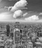 Aerial view of City of London skyline.  Stock Photography
