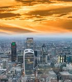 Aerial view of City of London skyline.  Stock Images