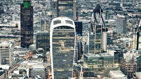 Aerial view of City of London skyline.  Stock Image