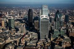 Aerial view of The City of London Royalty Free Stock Photography