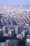 A aerial view of city in the morning in Dalian. Stock Photo