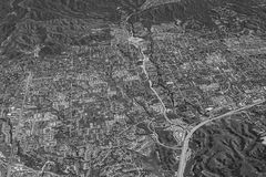 Aerial view of a city Royalty Free Stock Photography
