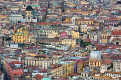 Aerial view of the city Naples in Italy. Royalty Free Stock Photos