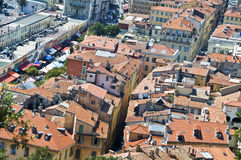 Aerial view of the city of Nice Royalty Free Stock Photos