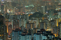Aerial view of city night Stock Image