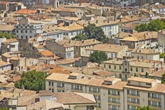 Aerial view of the city Nimes Stock Photography