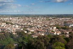 Aerial view of the city of nimes in France Stock Images