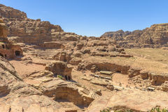 Aerial view of City of Petra Royalty Free Stock Image