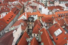 Aerial view of city of Prague Royalty Free Stock Image