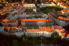 Aerial view of city of Prague, Capital city of the Czech Republi Royalty Free Stock Image