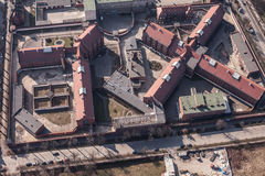 Aerial view of a city Prison Stock Image