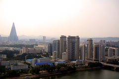 Aerial view of the city, Pyongyang, North-Korea Stock Photography