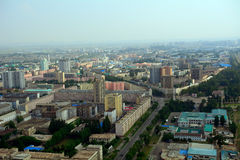 Aerial view of the city, Pyongyang, North-Korea Stock Photos