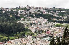 Aerial view of the city of Quito, Ecuador South America Royalty Free Stock Photos