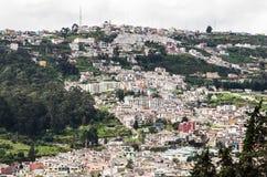 Aerial view of the city of Quito, Ecuador South America Royalty Free Stock Photos