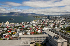 Aerial view on City of Reykjavik - Iceland. Royalty Free Stock Photo