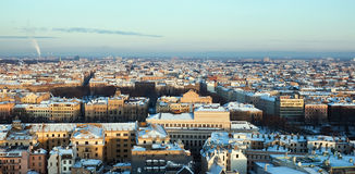 Aerial view of city Riga Stock Images