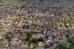 Aerial view of city of Rome Stock Photo