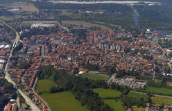 Aerial view of city of Rome Stock Photography