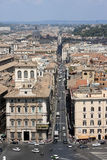 Aerial view of the city of Rome Stock Photos